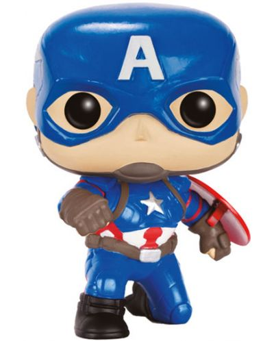 Фигура Funko Pop! Marvel: Captain America Civil War - Captain America (Action Pose), #137 - 1