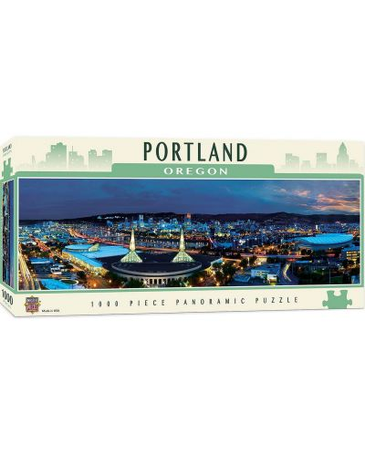 Панорамен пъзел Master Pieces от 1000 части - Портланд, Орегон - 1