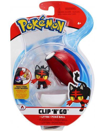 Екшън Poké топка Pokémon - Litten - 1