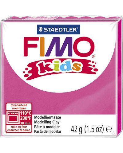 Полимерна глина Staedtler Fimo Kids - розов цвят - 1