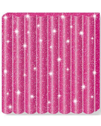 Полимерна глина Staedtler Fimo Kids - блестящ розов цвят - 2