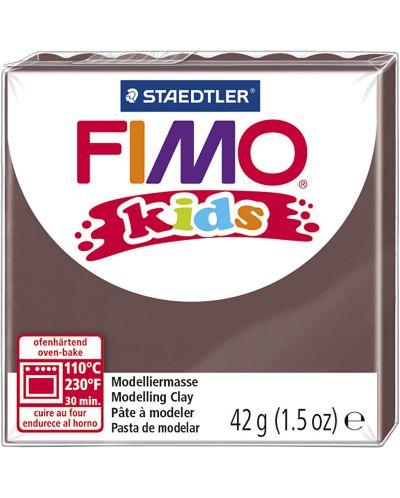 Полимерна глина Staedtler Fimo Kids - кафяв цвят - 1