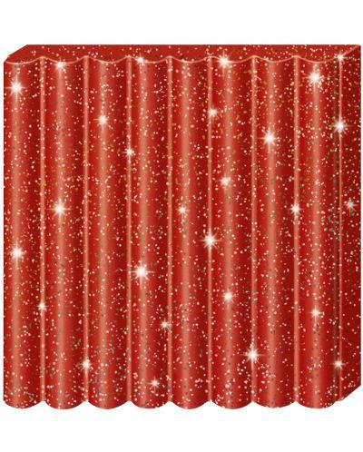 Полимерна глина Staedtler Fimo Kids - блестящ червен цвят - 2