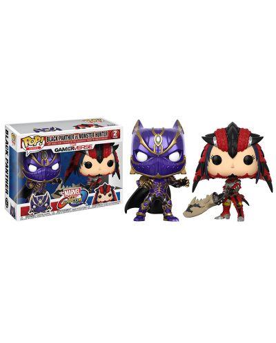 Фигури Funko Pop! Games: Marvel vs. Capcom - Black Panther vs Monster Hunter (2 Pack) - 2