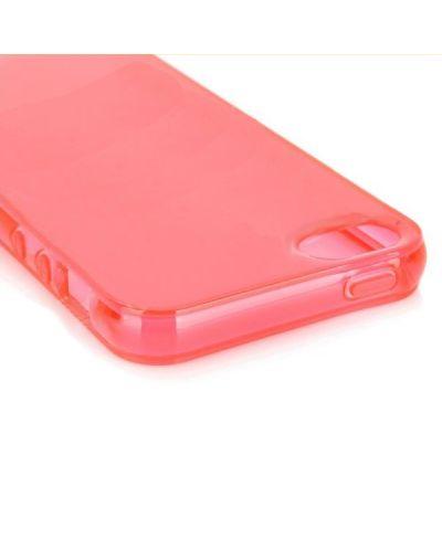 Protective Translucent TPU Case за iPhone 5 -  червен-прозрачен - 4