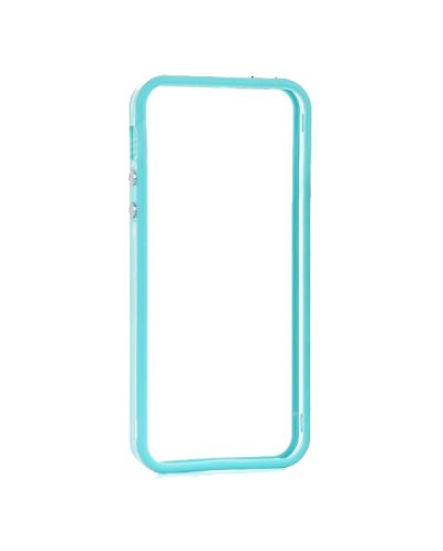 Protective Ultraslim Clear Bumper за iPhone 5 -  син - 1