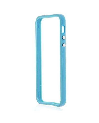 Protective Ultraslim Bumper за iPhone 5 -  светлосин - 4