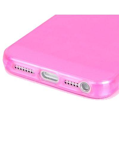 Protective Translucent TPU Case за iPhone 5 -  розов-прозрачен - 3