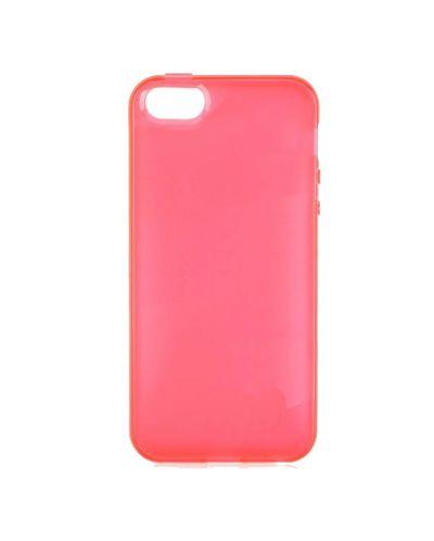 Protective Translucent TPU Case за iPhone 5 -  червен-прозрачен - 1