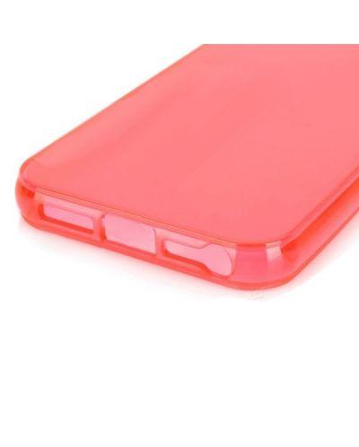 Protective Translucent TPU Case за iPhone 5 -  червен-прозрачен - 3