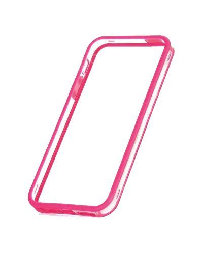 Protective Ultraslim Clear Bumper за iPhone 5 -  розов - 2