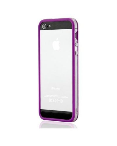 Protective Ultraslim Clear Bumper за iPhone 5 -  лилав - 3