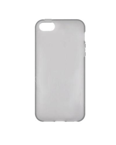 Protective Translucent TPU Case за iPhone 5 -  сив-прозрачен - 1
