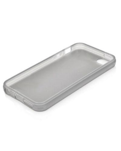 Protective Translucent TPU Case за iPhone 5 -  сив-прозрачен - 2