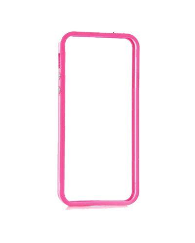 Protective Ultraslim Clear Bumper за iPhone 5 -  розов - 1