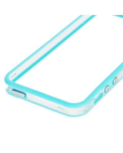 Protective Ultraslim Clear Bumper за iPhone 5 -  син - 3