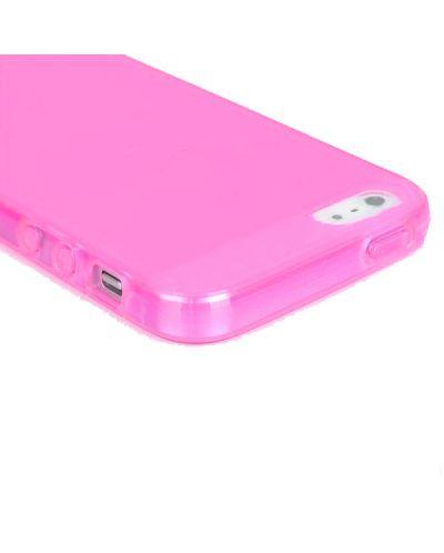Protective Translucent TPU Case за iPhone 5 -  розов-прозрачен - 4