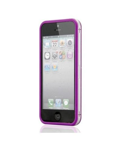 Protective Ultraslim Clear Bumper за iPhone 5 -  лилав - 1