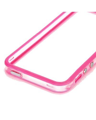 Protective Ultraslim Clear Bumper за iPhone 5 -  розов - 4
