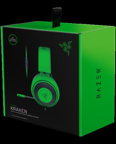 Гейминг слушалки Razer Kraken - Multi-Platform, зелени - 5