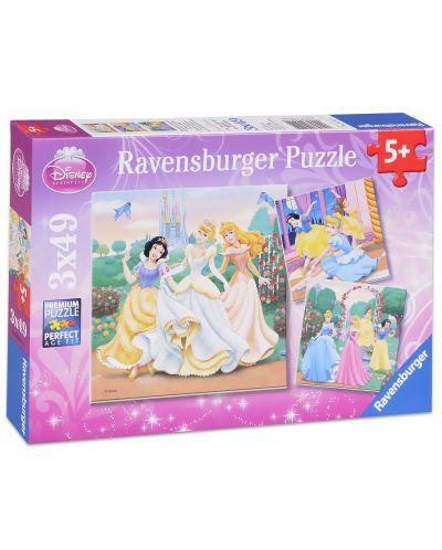 Пъзели Ravensburger 3 от 49 части - Забавление с Дисни Принцеси - 1