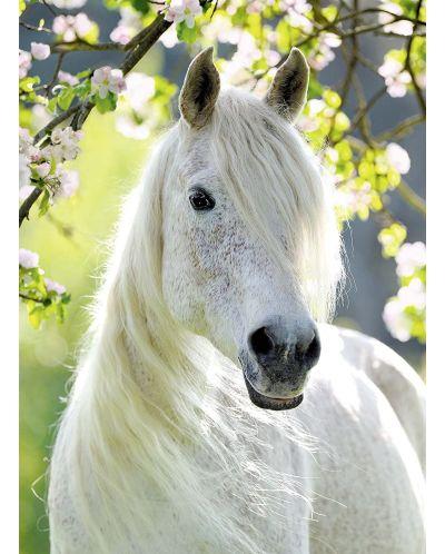 Пъзел Ravensburger от 500 части - Бял кон през пролетта - 2