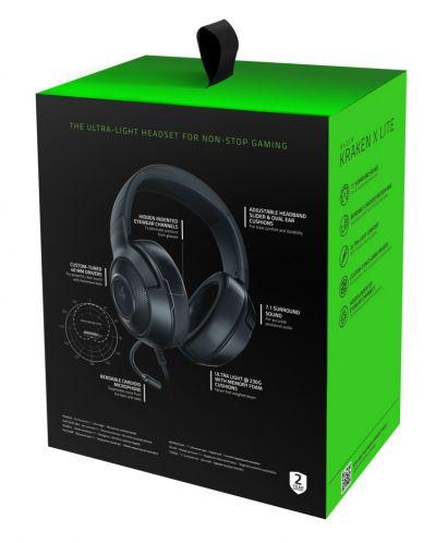 Гейминг слушалки Razer - Kraken X Lite, 7.1, черни - 6