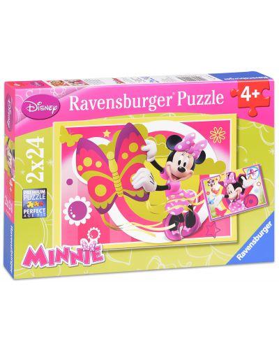 Пъзели Ravensburger - Дисни Мини Маус - 2 х 24 части - 1