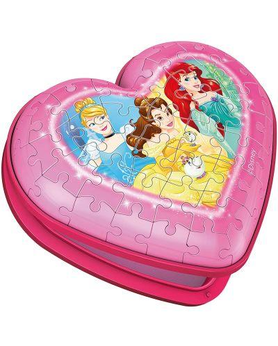 3D пъзел Ravensburger от 54 части - Кутия за бижута сърце, Принцеси - 2