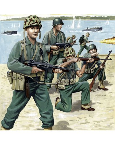 Фигури Revell - US Marines WW II (02506) - 1