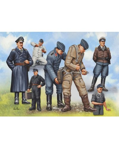 Фигури Revell - Pilots & Ground Crew Luftwaffe WWII (02621) - 1