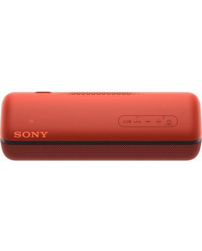 Мини колонка Sony - SRS-XB32, червена - 5