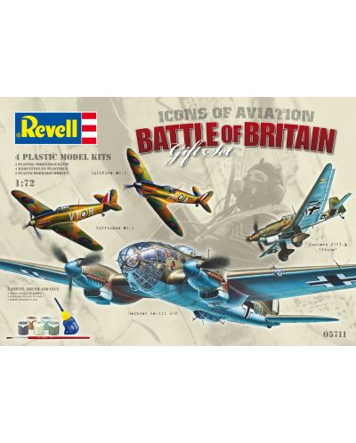 Сглобяем модел на военни самолети Revell - Gift Set, Battle of Britain (05711) - 1
