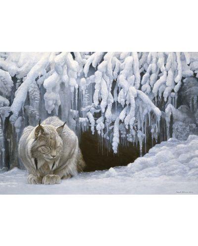 Пъзел Cobble Hill от 1000 части - Снежен рис, Робърт Бейтмън - 2