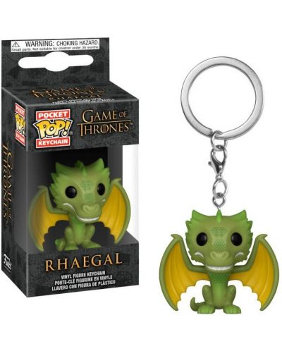 Ключодържател Funko Pocket Pop! Game of Thrones - Rhaegal, 4 cm - 2