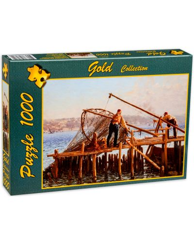 Пъзел Gold Puzzle от 1000 части - Рибарите въвеждат улова - 2