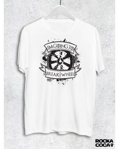 Тениска RockaCoca The Wheel, бяла, размер XL - 1