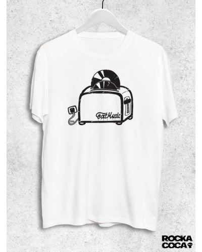 Тениска RockaCoca Toaster, бяла, размер M - 1