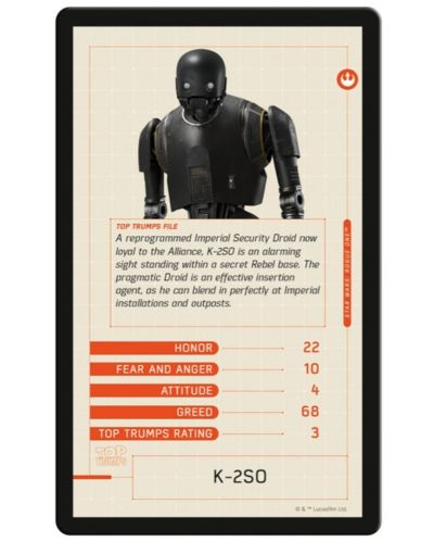 Игра с карти Top Trumps - Star Wars Rogue One - 4