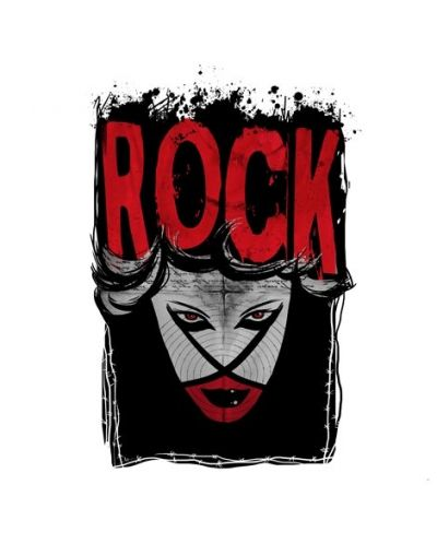 Тениска RockaCoca Rock, бяла, размер S - 1