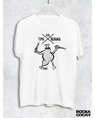 Тениска RockaCoca Revenge, бяла, размер L - 1