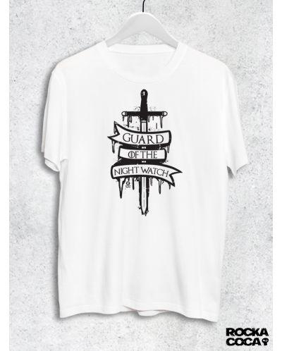 Тениска RockaCoca Guard, бяла, размер L - 1