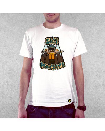 Тениска RockaCoca Ski Monster, бяла, размер L - 2
