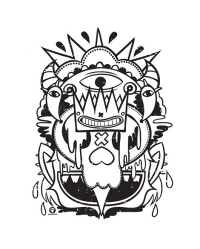 Тениска RockaCoca Skull King, бяла, размер XL - 2