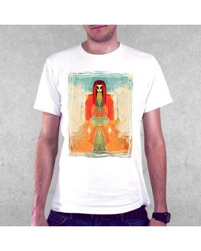 Тениска RockaCoca Meditation, бяла, размер S - 2