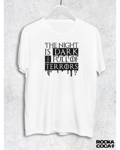 Тениска RockaCoca The Night, бяла, размер L - 1