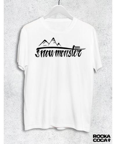 Тениска RockaCoca Snow Monster, бяла, размер L - 1