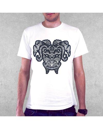 Тениска RockaCoca Mask, бяла, размер M - 2