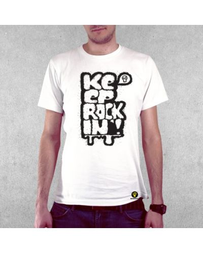 Тениска RockaCoca Rockin', бяла, размер S - 2