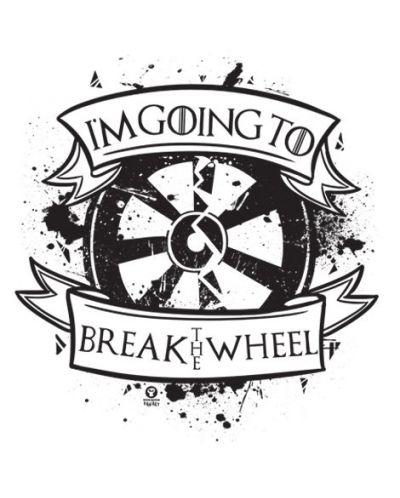 Тениска RockaCoca The Wheel, бяла, размер L - 2